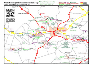 Wells Countryside Accommodation Map Preview