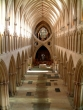 The Scissor Arches which help support the central tower. Image kindly supplied by the Chapter of Wells Cathedral.