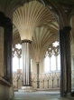 The Chapter House with it's beautiful mediaeval fan arches.