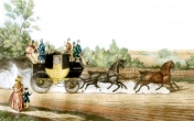 1820 Red Rover bus