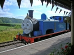 Thomas the Tank Engine in the station.