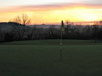 The 6th green looking over towards Glastonbury Tor. Image provided by Wells Golf Club.