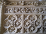 Muchelney Abbey fire place stone carved surround.