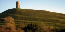 Profile of the Tor in late afternoon sunshine