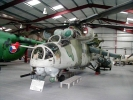 MIL Mi-24D - built in Soviet Union in 1981. Two plus eight seat attack helicopter. Image © The Helicopter Museum.