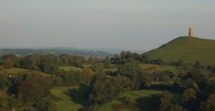 Glastonbury Tor. Image supplied by the Ballooning Network.