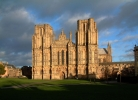 The dramatic facade of Wells Cathedral greets you at the end of the West Mendip Way.